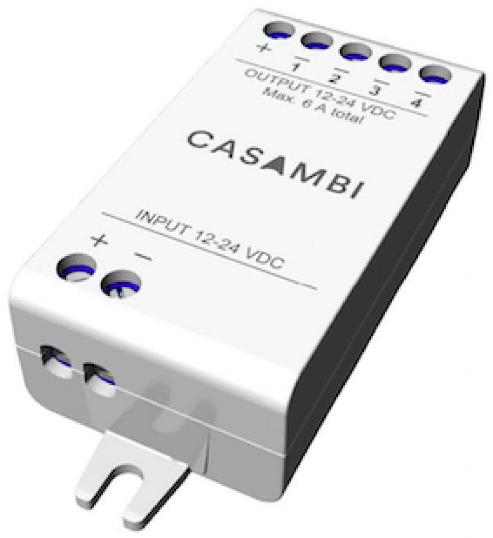 Casambi enabled four channel PWM dimmer