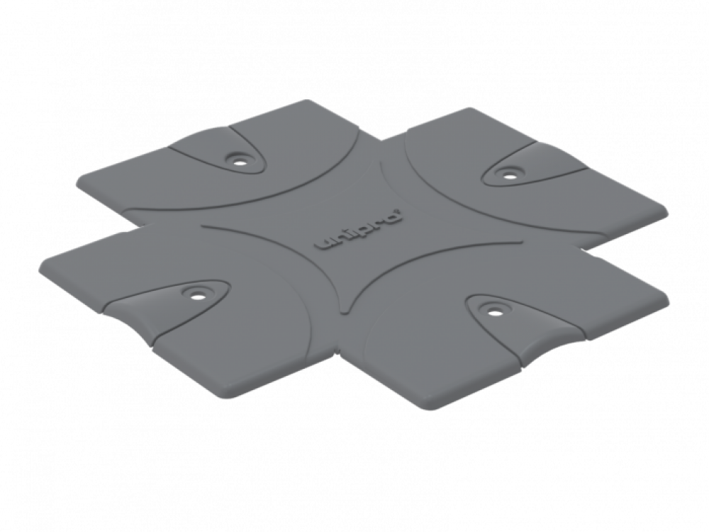 UNIPRO CP3G, Cover plate, grey (10 pcs/set)