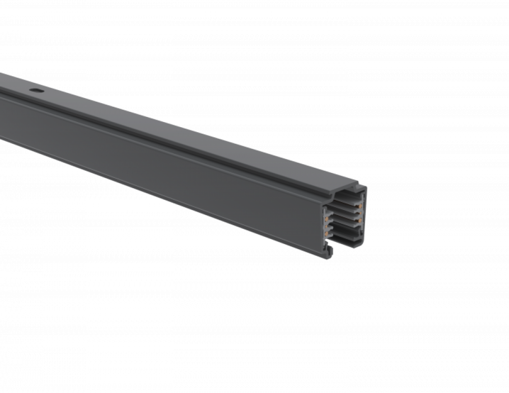 UNIPRO TC324MG, Control-DALI 3-phase lighting track, grey matte, 2.4 meters (surface)